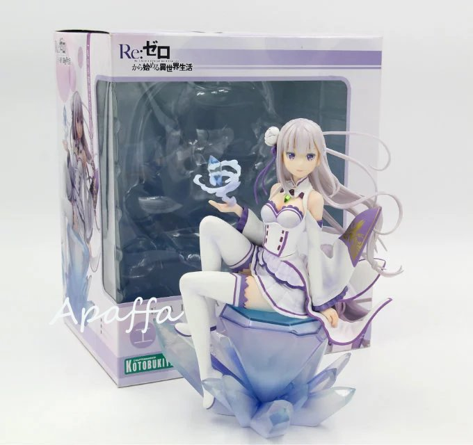Re:Zero − Starting Life in Another World – Emilia Action Figure (Box/No Box) Action & Toy Figures