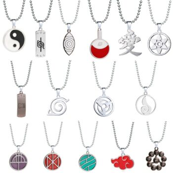 Naruto – Different Characters Signs and Logos Themed Necklaces (30+ Designs) Pendants & Necklaces
