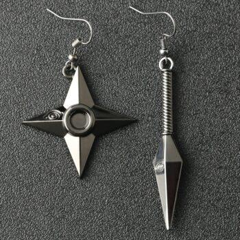 Naruto – Kunai and Shuriken Earrings Rings & Earrings