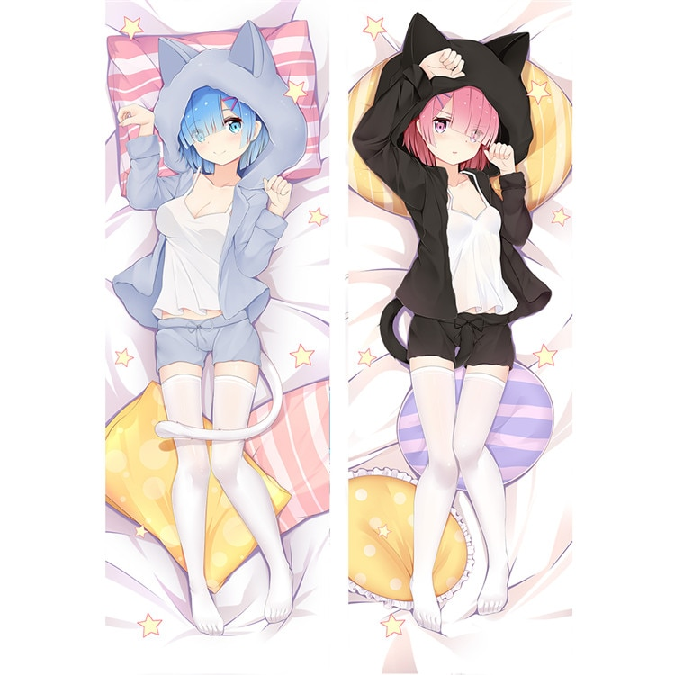 Re:Zero − Starting Life in Another World – Ram and Rem Dakimakura Hugging Body Pillow Covers (2 Designs) Bed & Pillow Covers