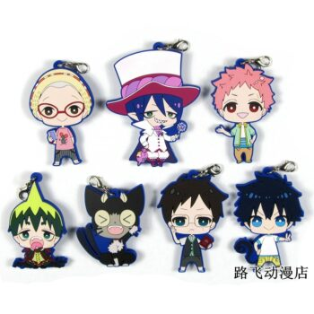 Blue Exorcist – Different Cute Characters Rubber Keychains (7 Designs) Keychains