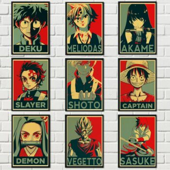 All Amazing Anime Characters Wall Posters (45+ Designs) Posters