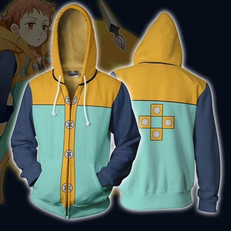 The Seven Deadly Sins – Fairy King Harlequin themed Zip Hoodie Hoodies & Sweatshirts