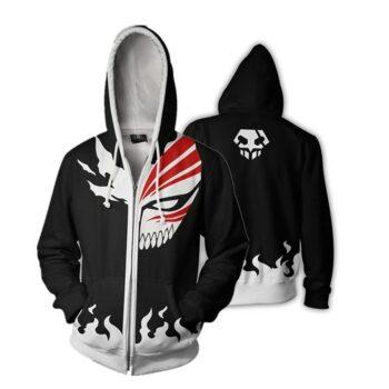 Bleach – Ichigo Soul Repaer themed Zip Hoodies (3 Designs) Hoodies & Sweatshirts