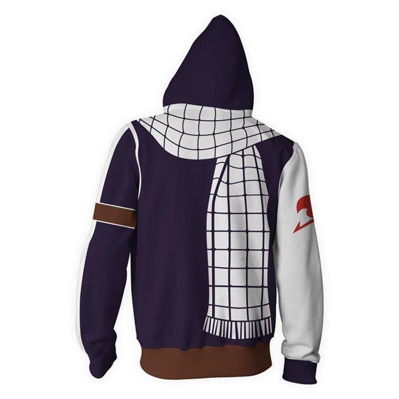 Fairy Tail – Natsu Dragneel themed Zip Hoodie Hoodies & Sweatshirts