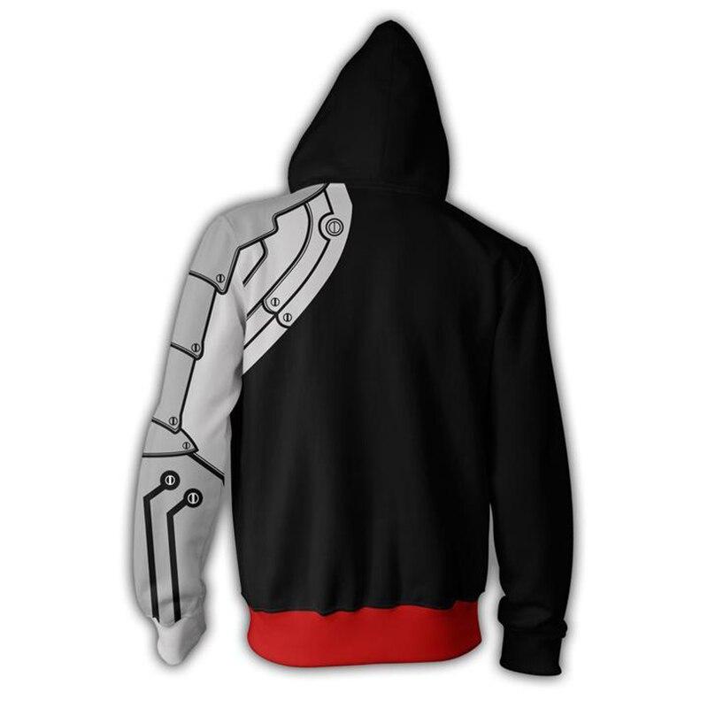 Fullmetal Alchemist – Edward Elric themed Zip Hoodie (Black) Hoodies & Sweatshirts