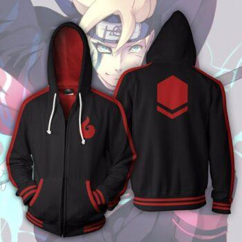 Naruto – Boruto Uzumaki themed Zip Hoodie Hoodies & Sweatshirts