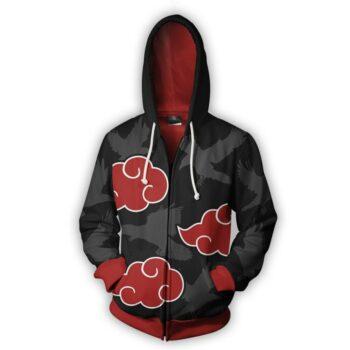 Naruto – Akatsuki Themed Stylish Zip Hoodie (Premium Quality) Hoodies & Sweatshirts