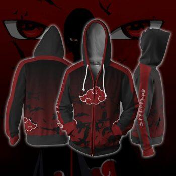 Naruto – Akatsuki Themed Zip Hoodie Hoodies & Sweatshirts