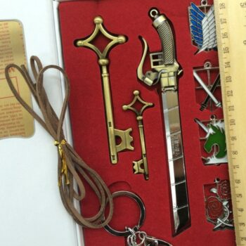 Attack On Titan – Different Amazing Things Badges and Keychains (9 Pieces/Set) Keychains