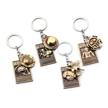 One Piece – Different Characters with their Signs Metal Keychains (15+ Designs) Keychains