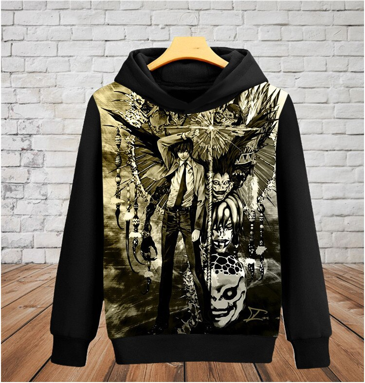 Death Note – Light and Shinigami Themed Closed Hoodies Hoodies & Sweatshirts