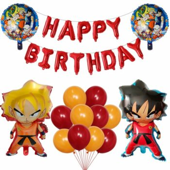 Dragon Ball – Different Characters Themed Happy Birthday Balloons Set (25+ Designs) Cosplay & Accessories