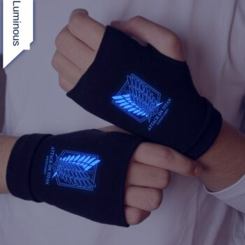 Attack on Titan – Survey Corps Themed Fingerless Gloves (3 Designs) Cosplay & Accessories