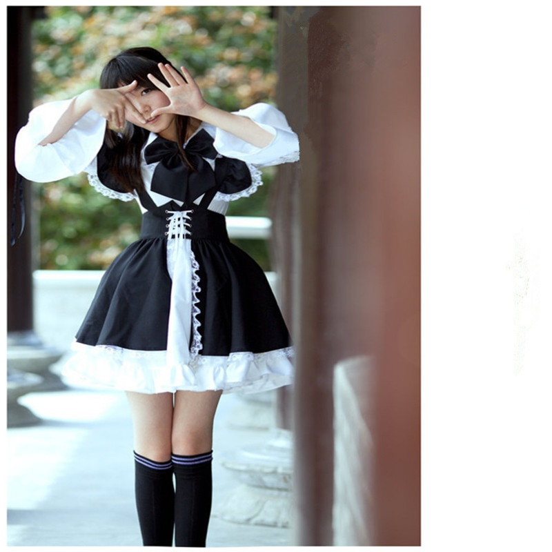 Re:Zero − Starting Life in Another World – Ram, and Rem Themed Maid Costume (2 Designs) Cosplay & Accessories