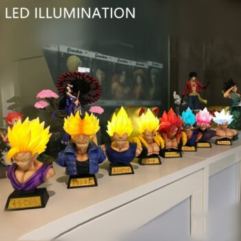 Dragon Ball – All Super Saiyan Forms with Glowing Hairs Themed Figures (20+ Designs) Action & Toy Figures