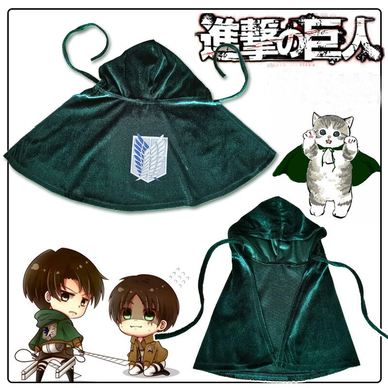 Different Animes Themed Cloaks for your Pet (6 Designs) Cosplay & Accessories
