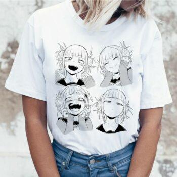 My Hero Academia – Cute Girls Themed Romantic White T-Shirts (25+ Designs) T-Shirts & Tank Tops