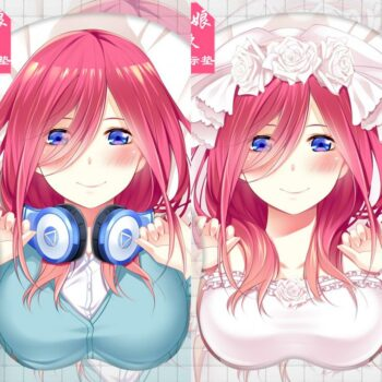 The Quintessential Quintuplets – Nakano Miku Themed Cute and Soft Mousepad (2 Designs) Keyboard & Mouse Pads
