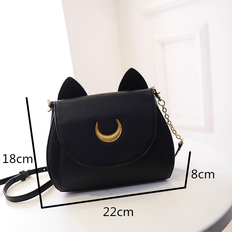 Sailor Moon – Luna and Artemis Themed Handbags (2 Designs) Bags & Backpacks
