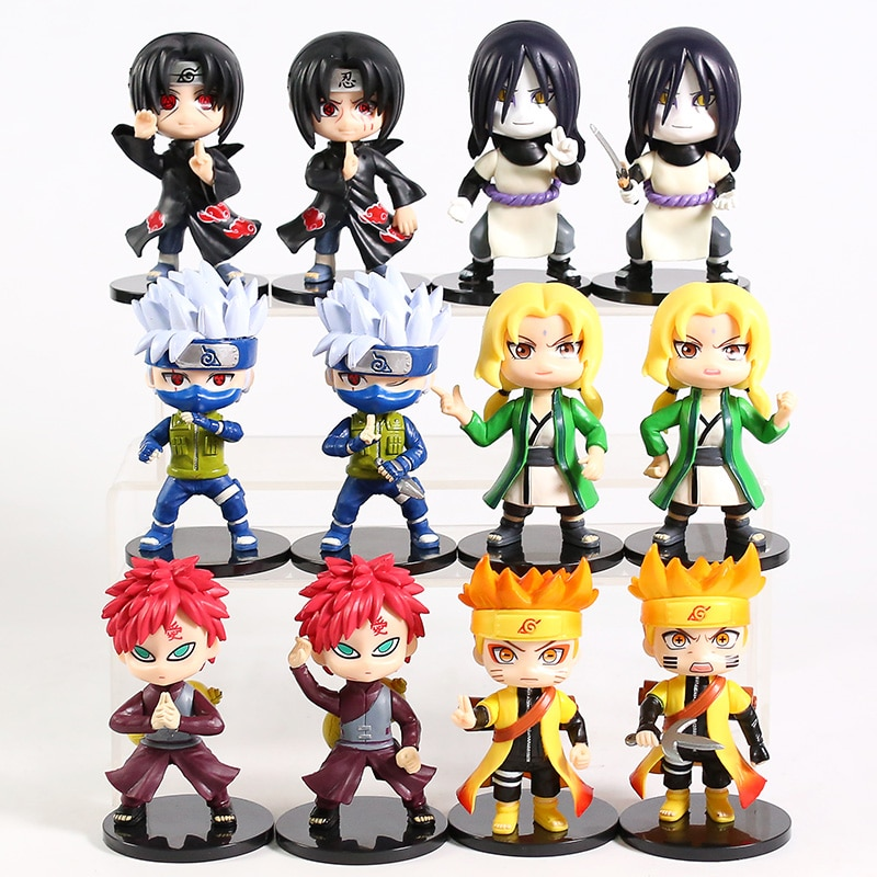 Naruto – All Awesome Characters Small PVC Action Figures (Pack of 6) Action & Toy Figures