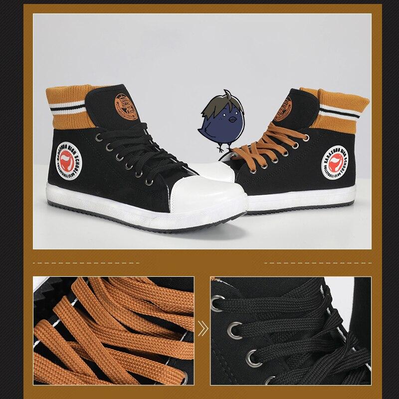 Haikyuu!! – Karasuno Themed Black and Orange Shoes (Different Sizes) Shoes & Slippers