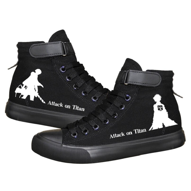 Attack on Titan – Different Cool Logos and Marks Themed Black Shoes (4 Designs) Shoes & Slippers