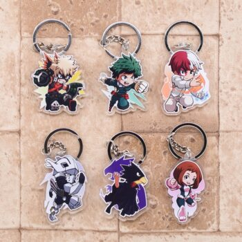 My Hero Academia – Different Cool Characters Fighting Themed Keychains (20+ Designs) Keychains