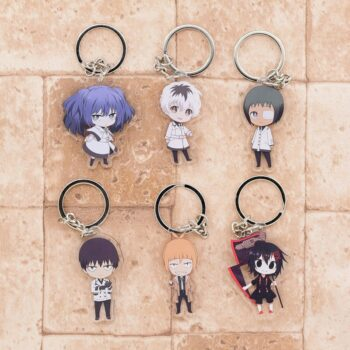 Tokyo Ghoul – Different Cute Characters Themed Acrylic Keychains (6 Designs) Keychains