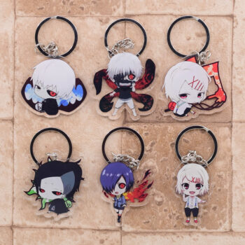 Tokyo Ghoul – Various Wholesome Characters Themed Cute Keychains (10+ Designs) Keychains