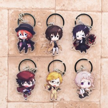 Bungo Stray Dogs – Different Characters Cool Keychains (6 Designs) Keychains