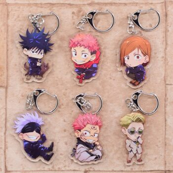 Jujutsu Kaisen – Different Characters Funny Double-Sided Keychains (9 Designs) Keychains