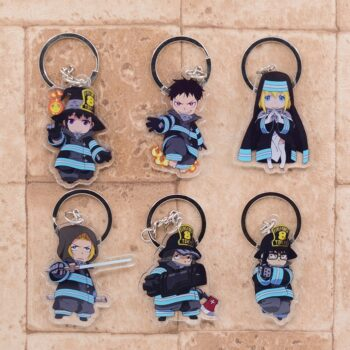 Fire Force – Various Characters Cute Little Acrylic Keychains (6 Designs) Keychains