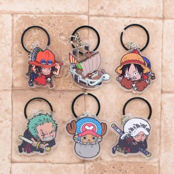 One Piece – Different Cute Characters Double-Sided Acrylic Keychains (10+ Designs) Keychains