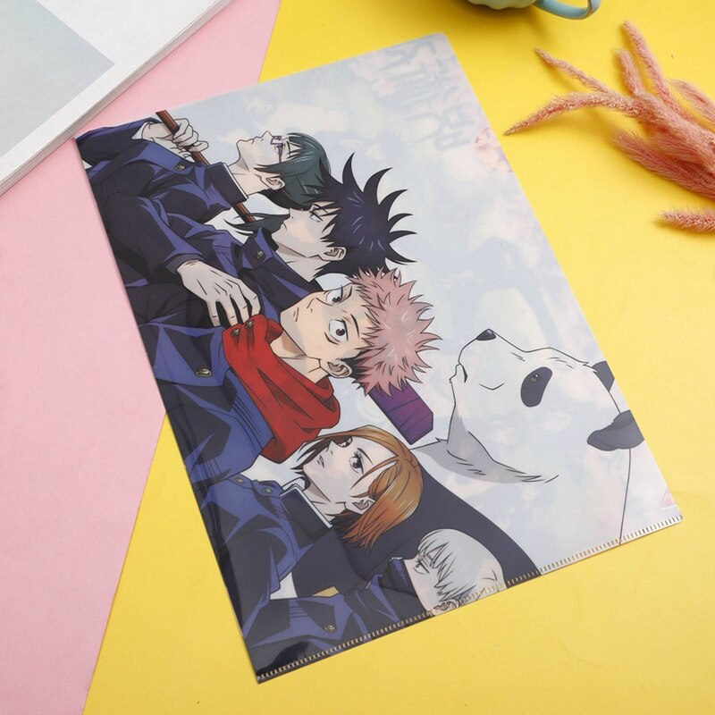 Jujutsu Kaisen – Different Cool Characters Themed File Holder or Organizer (4 Designs) Pens & Books