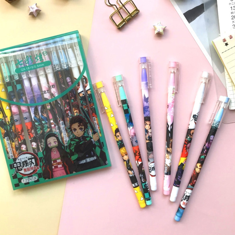Demon Slayer – Different Characters Themed Gen Pens (Set of 6) Pens & Books