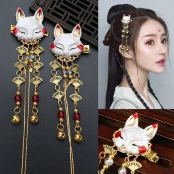 Japanese Culture Headdress Fox Themed Tassel (4 Designs) Cosplay & Accessories