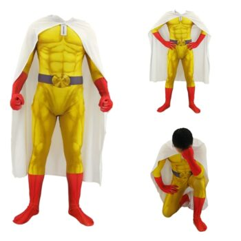 One Punch Man – Saitama Themed Full Cosplay Suit (Different Sizes) Cosplay & Accessories