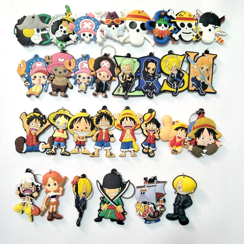 One Piece – Different Characters cute double-sided Keychains (15+ Designs) Keychains