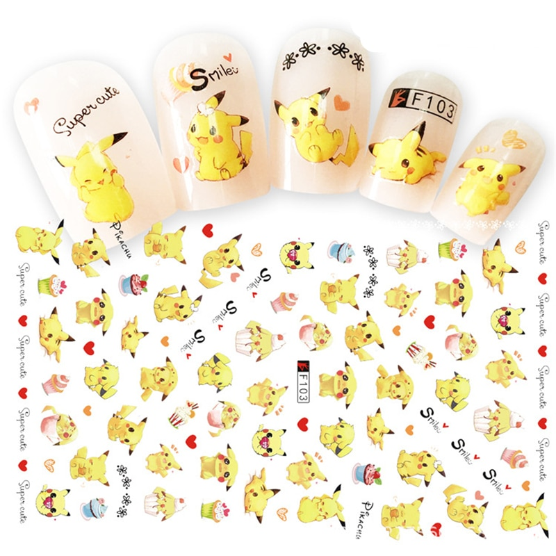 Pokemon – Pikachu and Other Pokemons Themed Nails (7 Designs) Rings & Earrings