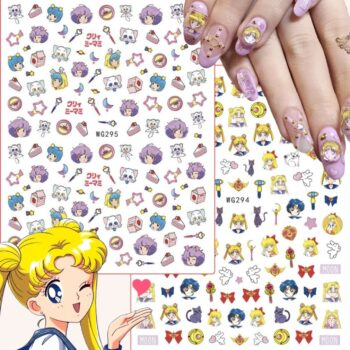 Sailor Moon – All Characters and Accessories Themed Sheet of Stickers (7 Designs) Posters