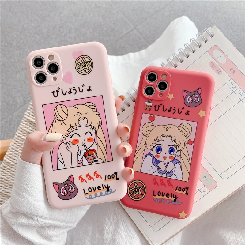 Sailor Moon – Sailor Moon Themed Cute Covers for Different iPhones (6S – 12 Pro Max) Phone Accessories