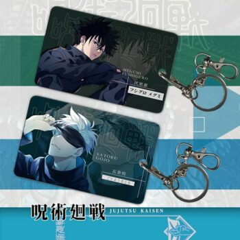 Jujutsu Kaisen – Cool Characters Themed Amazing ID Cards with Keychains (3 Designs) Cosplay & Accessories