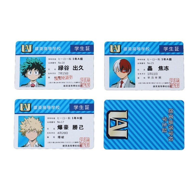 My Hero Academia – All UA Students' Cosplay ID Cards (10+ Designs) Cosplay & Accessories