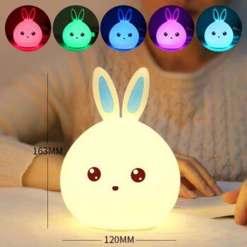 Cute AnimeThemed Soft Multi-Color Bunny Rabbit With Touch Sensor (4 Designs) Dolls & Plushies