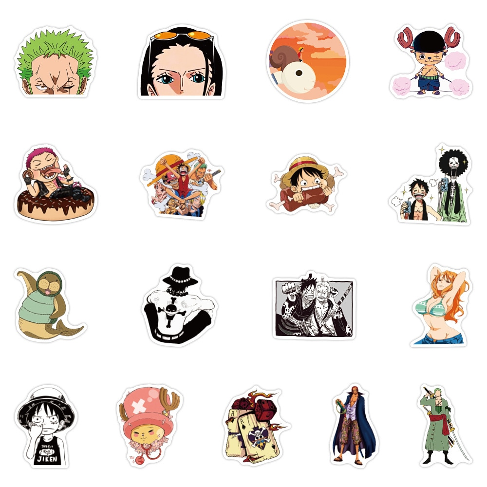 One Piece – All Crazy and Amazing Characters Stickers (Set of 50) Posters