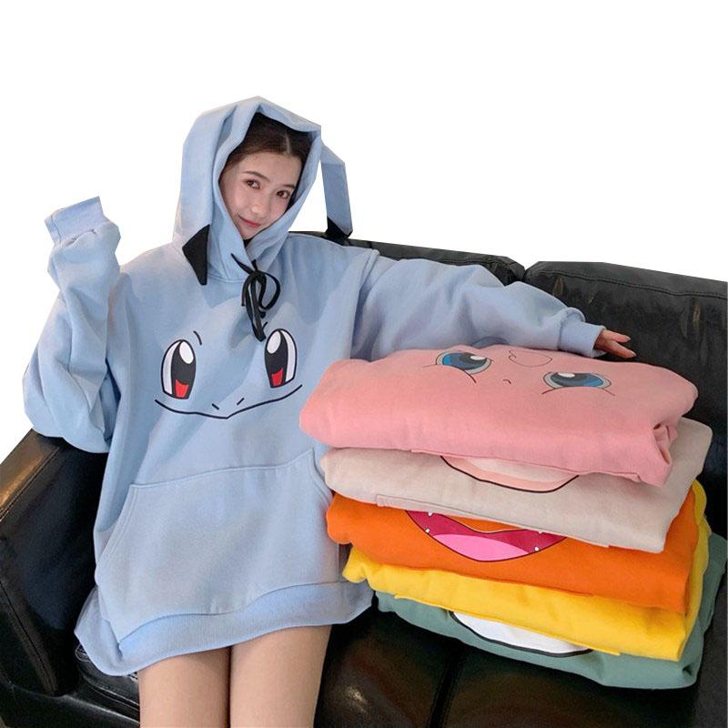 Sweatshirt Women Girls Hoodies Harajuku Women's Hooded Casual Pullover Tops Plus Size Female Hoodie Pullovers for Woman Clothes