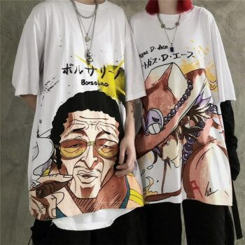 One Piece – Different Badass Characters Awesome T-Shirts (4 Designs) T-Shirts & Tank Tops