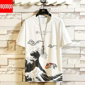 Japanese Style Ocean and Fish Themed Smart T-Shirts (3 Designs) T-Shirts & Tank Tops