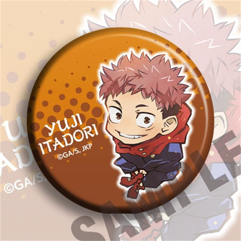 Jujutsu Kaisen – Different Characters Themed Beautiful Badges (2 Sets) Pendants & Necklaces